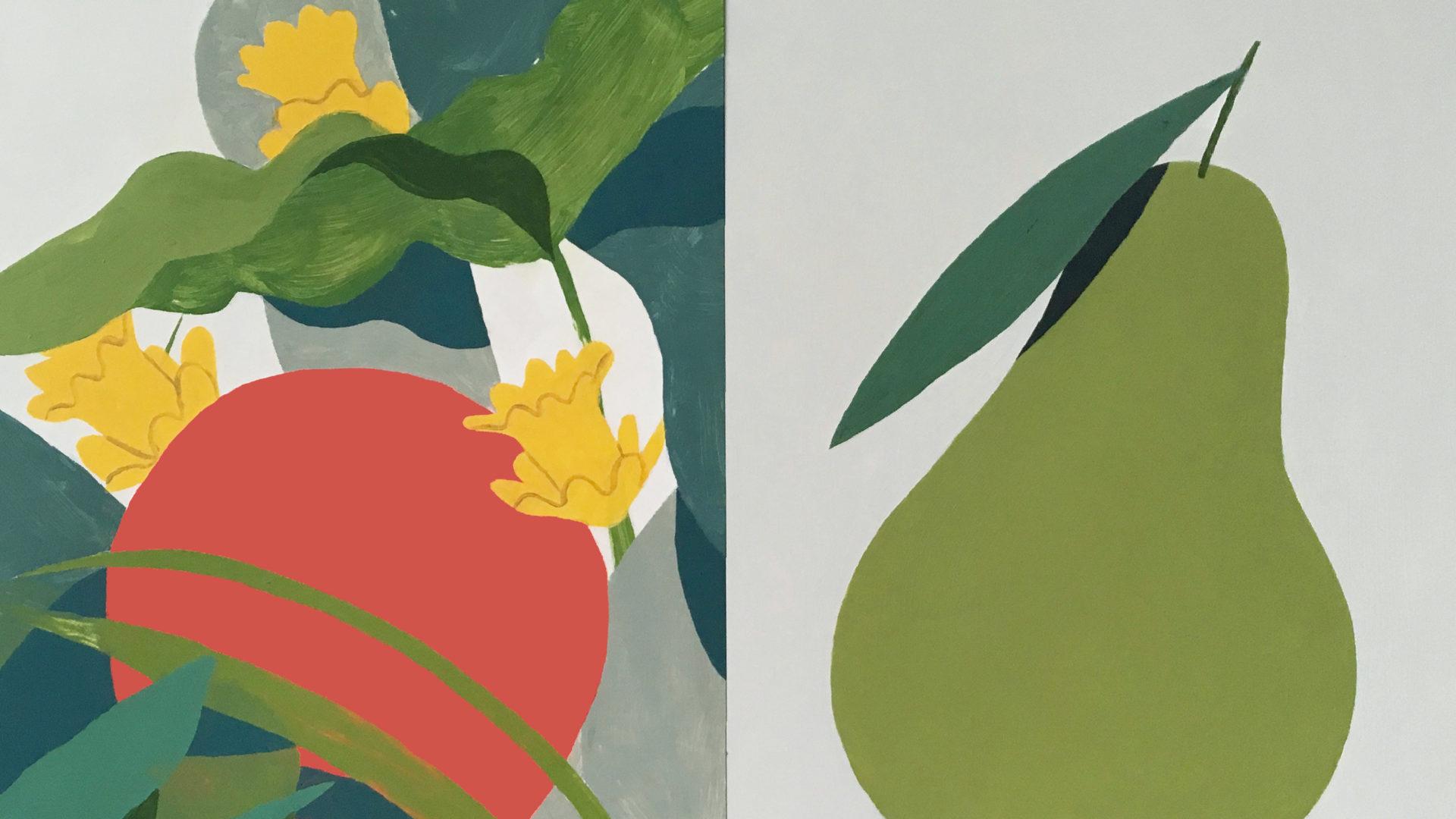 Detail view of works by Noellert.